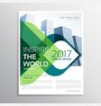 stylish brochure presentation leaflet template vector image
