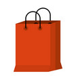 white background with colorful shopping bag vector image