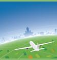 helsinki skyline flight destination vector image