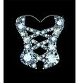 Diamond Corset vector image