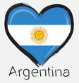 love Argentina flag vector image vector image