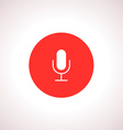 Microphone Icon in red circle vector image vector image