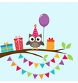 Party owl card vector image