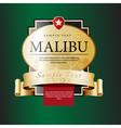 Ornate labels Malibu vector image