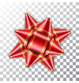 bow ribbon red christmas vector image