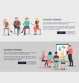business training for workers vector image