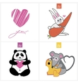 Drawn cute animals vector image