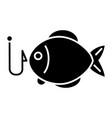 fishing 2 - fish icon blac vector image