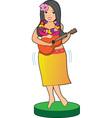 Hula Girl vector image
