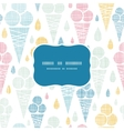 Ice cream cones textile colorful frame seamless vector image