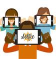 photo selfie vector image