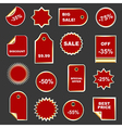 Set of stickers and labels vector image