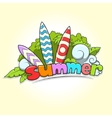 Summer surfing vector image