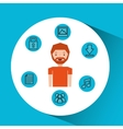 character man technology social media vector image