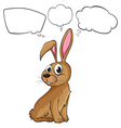 A brown bunny with empty callouts vector image vector image