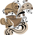 cup of coffee - abstraction vector image