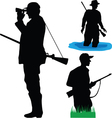Hunters of wild animals vector image vector image