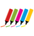 colorful highlighters vector image vector image