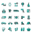 Signs vacation travel recreation second vector image