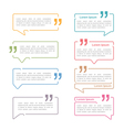 Speech Bubbles with Quotes vector image vector image