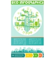 Eco infographic and option banners vector image