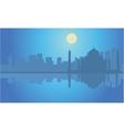 Silhouette Taj Mahal india at night vector image