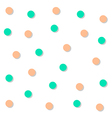 Green Orange Circle Abstract White Background vector image
