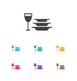 of cook symbol on dishes icon vector image