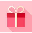 Pink present box vector image