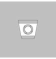 Recycle bin computer symbol vector image
