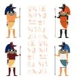 Set of Anubis vector image