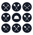 set round icons of construction tools vector image