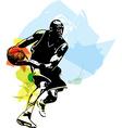 Sketch of basketball player vector image