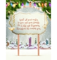 Christmas scene village EPS 10 vector image vector image