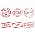 Cloud stamps vector image vector image