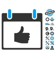 Thumb Up Calendar Day Icon With Bonus vector image