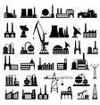 Industrial buildings 2 vector image