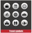 travel symbols set vector image vector image