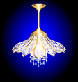 modern chandelier in the shape of a flower vector image vector image
