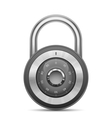 Glossy combination lock vector image vector image