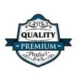 Quality premium product badge vector image