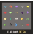 Flat icons set 28 vector image