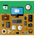 Concept of workplace vector image