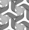 Ribbons forming stars pattern vector image vector image