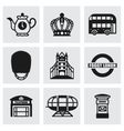 London icon set vector image