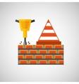 construction tools design vector image