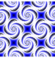 Design seamless colorful spiral geometric pattern vector image