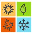 four season icon vector image
