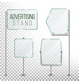 glass screen banner set empty advertising vector image