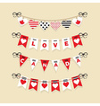 love canada hanging banners flags and buntings vector image